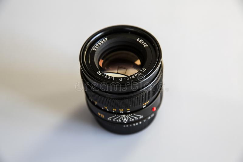 Photo of Black Zoom Lens on White Surface royalty free stock images