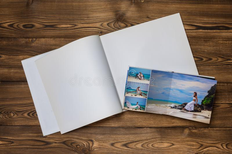 Photo blank brochure cover royalty free stock photo