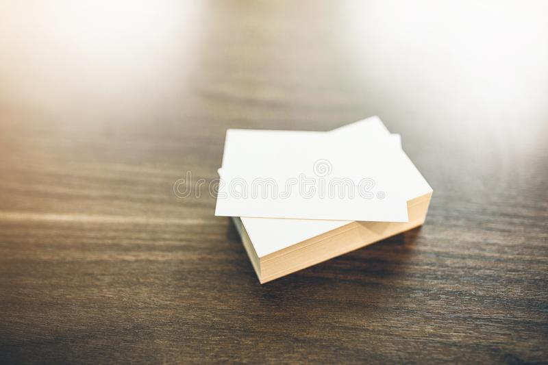 Photo of blank business cards royalty free stock photos