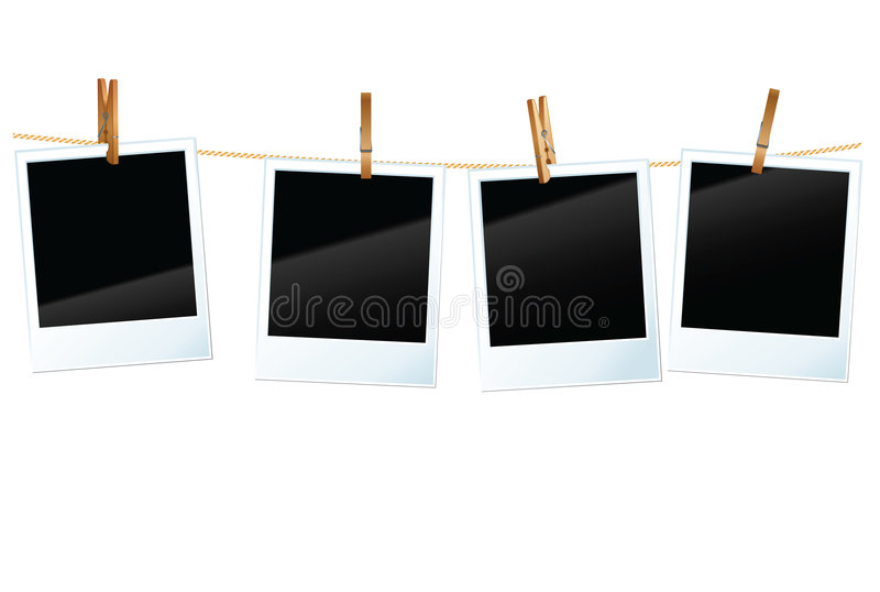 Download Photo blanks stock vector. Image of photography, hanging - 8550148