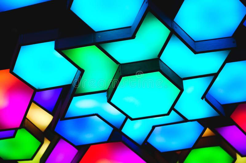 Photo of Blue, Pink, and Green Led Light stock photos