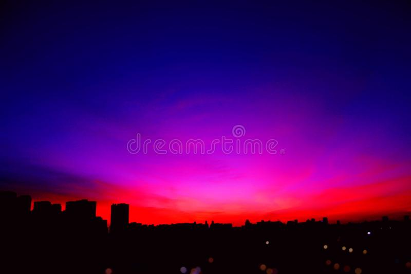 Photo of Blue and Red Skies stock images