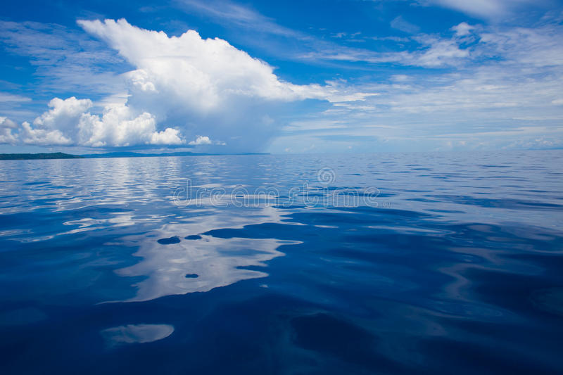 Download Photo Of Blue Sea And Tropical Sky Clouds. Seascape. Sun Over Water,Sunrise. Horizontal. Nobody Picture. Ocean Stock Photo - Image of beach, season: 74767690