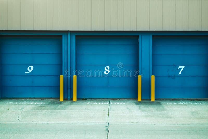 Photo of Blue Shutter Door stock photo