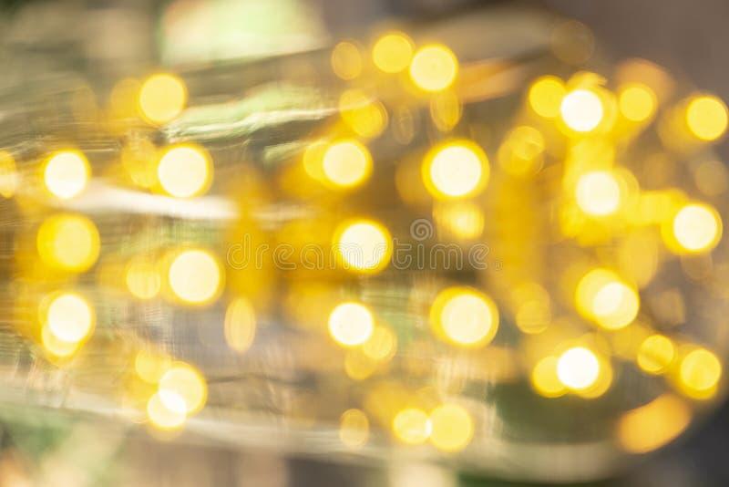 Classic retro incandescent led electric lamp warm white on blur background, Vintage light bulb stock photos