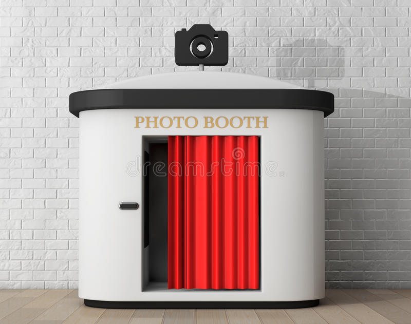 Photo Booth. 3d rendering stock image