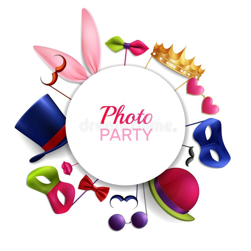 Photo Booth Party Background vector illustration