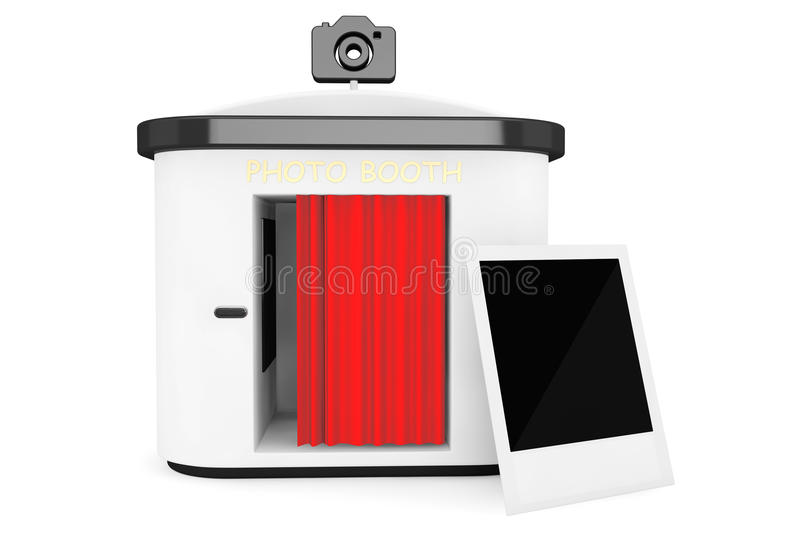 Photo Booth Photo Frame. On a white background stock photos