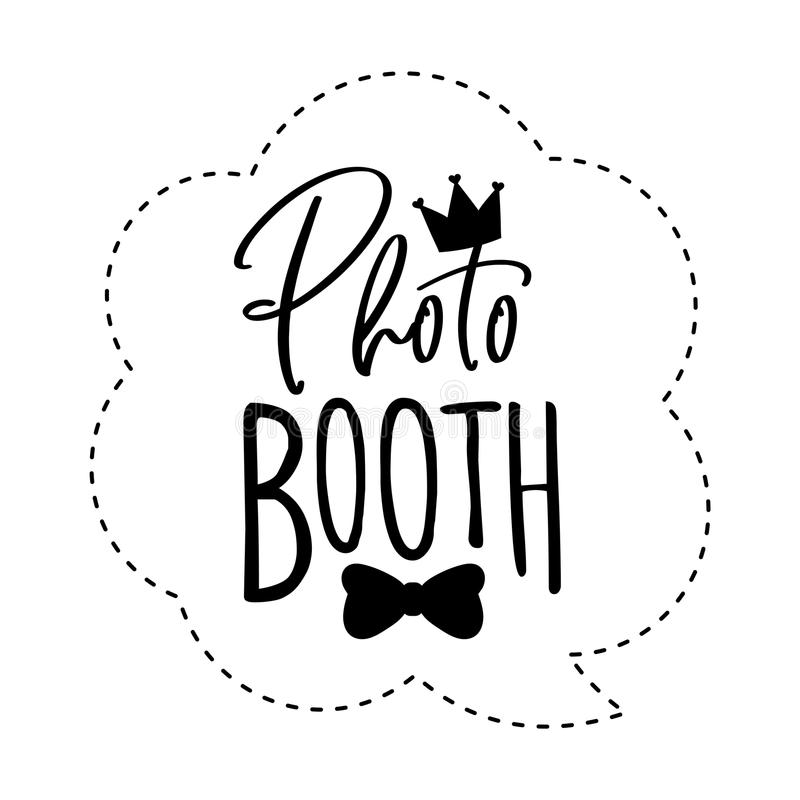 Photo booth photobooth props sign or icon. royalty free illustration