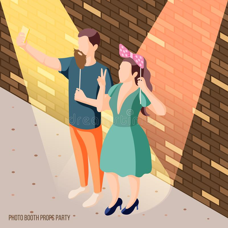 Photo Booth Props Background vector illustration