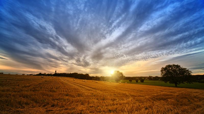 Photo of Brown Field during Sunrise stock images