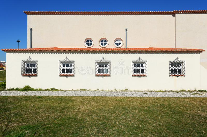 Photo of the building part of Popular Art Museum in Lisbon stock image
