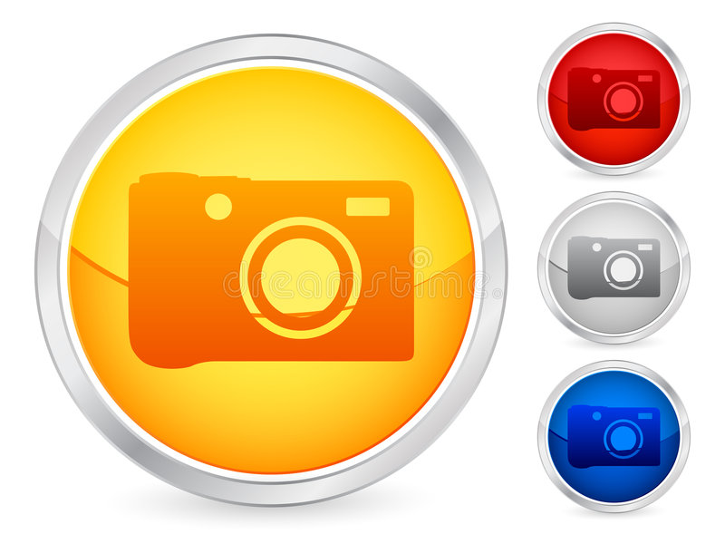 Download Photo button stock vector. Illustration of interface, rounded - 8279556