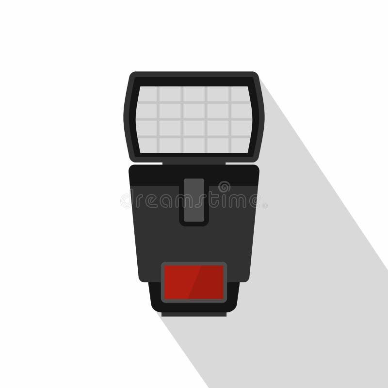 Photo camera flash icon, flat style royalty free illustration