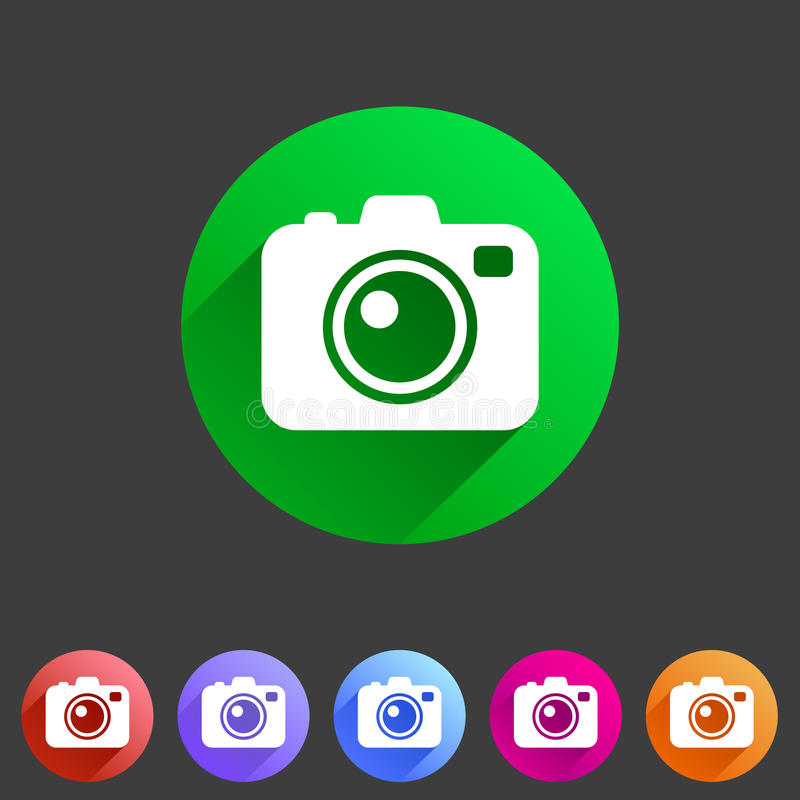 Photo camera flat icon stock illustration