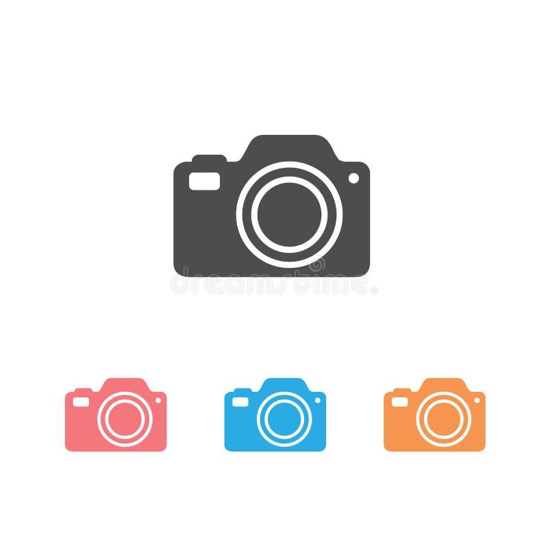 Photo Camera icon set vector Photography flat sign symbols logo illustration isolated on white background beautiful stock illustration