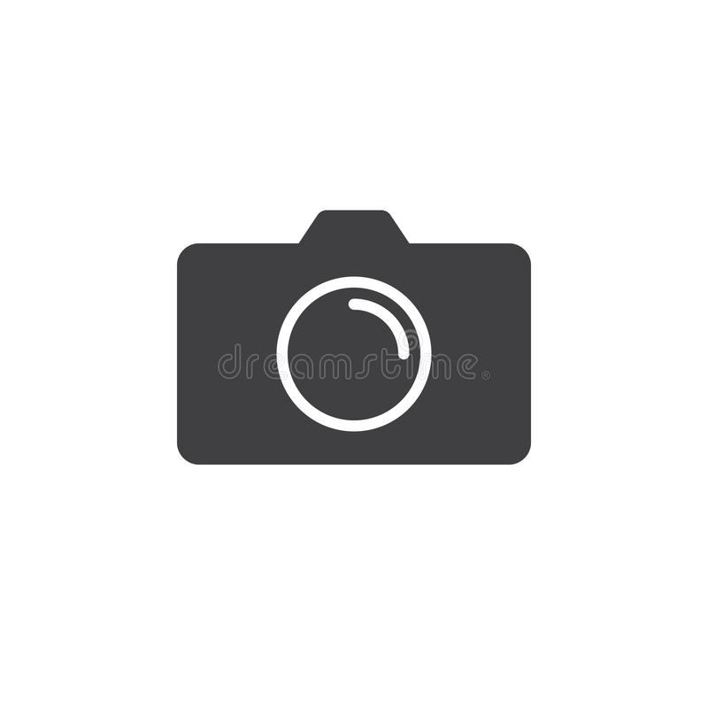 Photo Camera icon , solid logo illustration, pictogram iso royalty free illustration