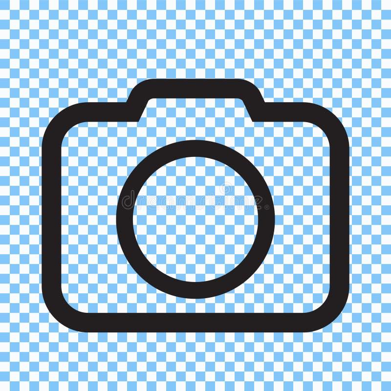 Photo camera icon. Vector illustration stock illustration