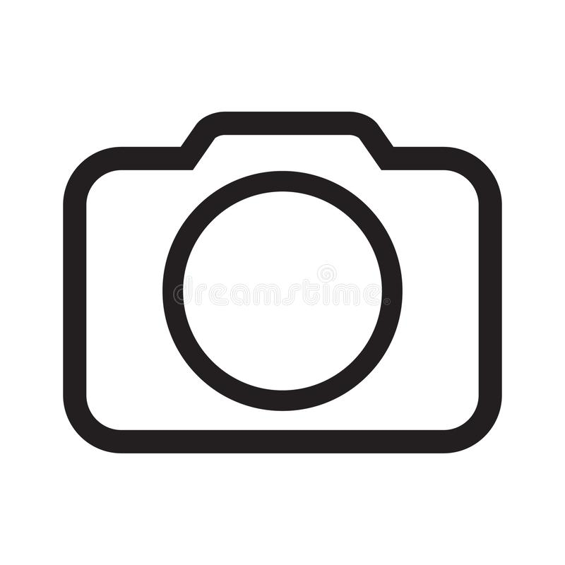 Photo camera icon vector. Vector illustration isolated on white background royalty free illustration