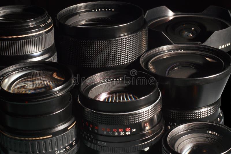 Download Photo camera lenses. stock image. Image of black, aperture - 12384355