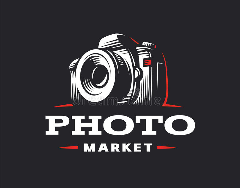 Photo camera logo - vector illustration. Vintage emblem. Design vector illustration