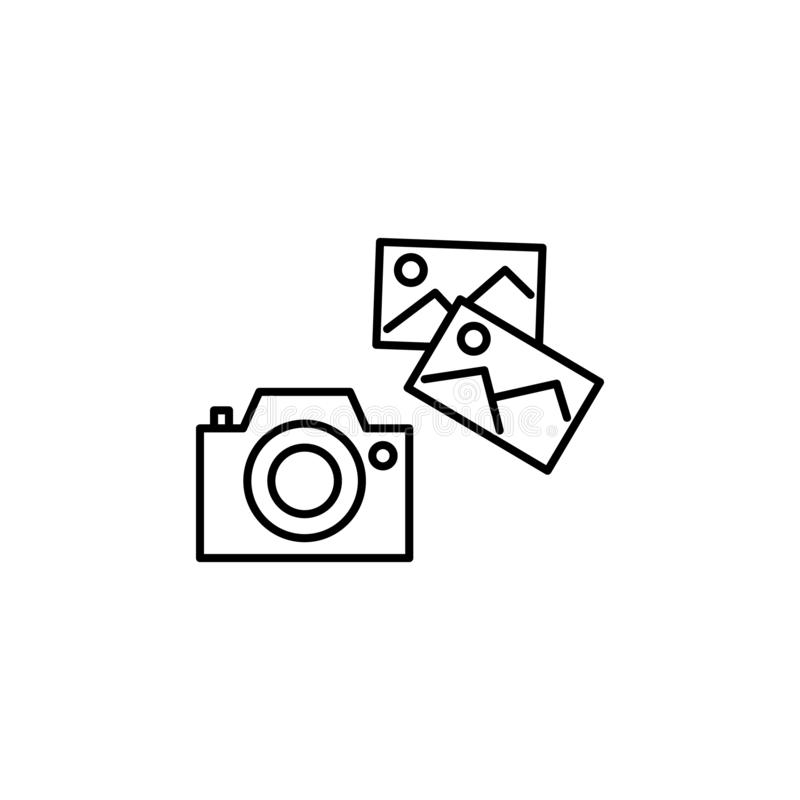 Photo camera outline icon. Element of lifestyle illustration icon. Premium quality graphic design. Signs and symbol collection. Icon for websites, web design stock illustration