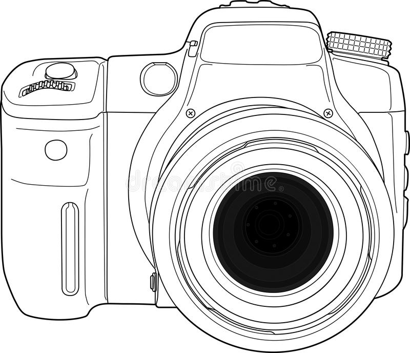 Photo camera vector draw vector illustration