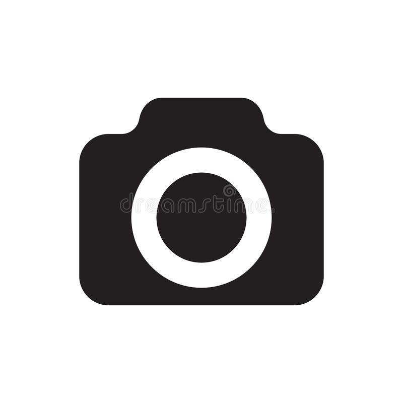 Photo camera vector icon, bold icon. Vector illustration isolated on white background royalty free illustration