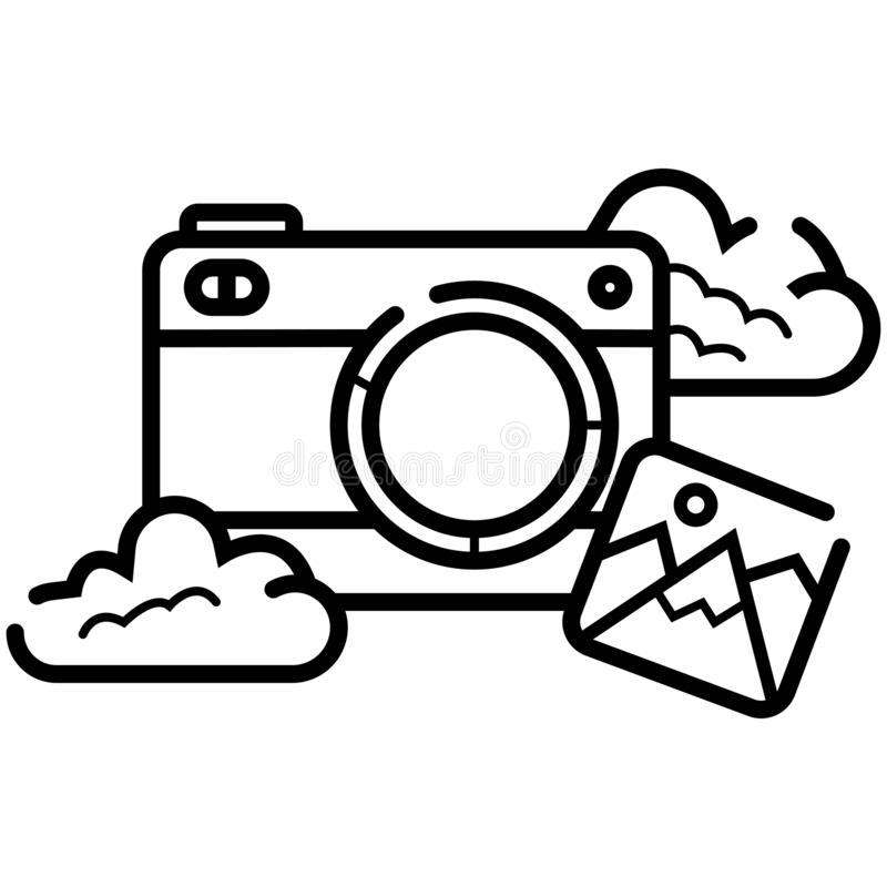 Photo camera vector icon illustration royalty free illustration