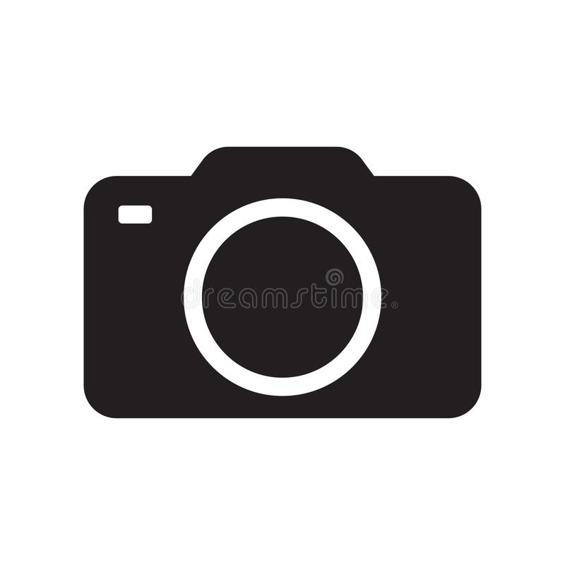 Photo camera vector icon. Vector illustration isolated on white background vector illustration