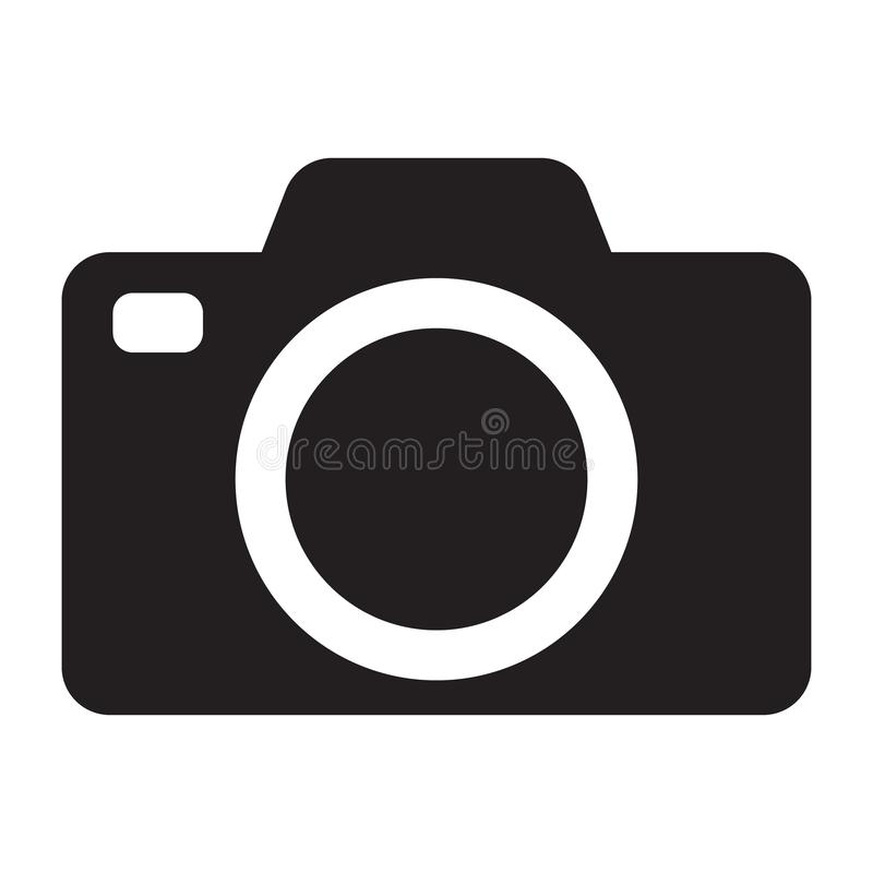 Photo camera vector icon. Vector illustration isolated on white background royalty free illustration