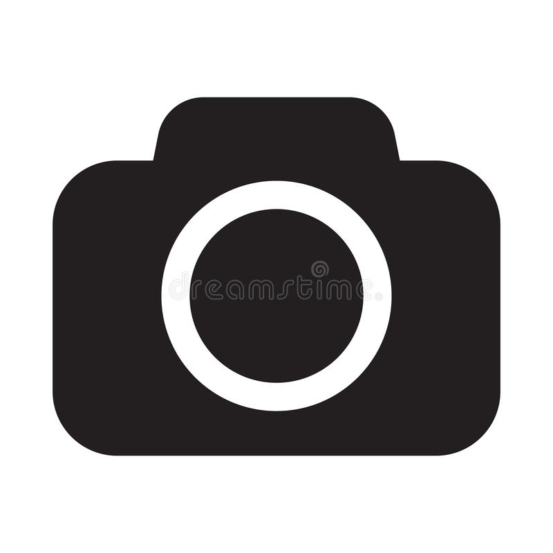 Photo camera vector icon royalty free illustration