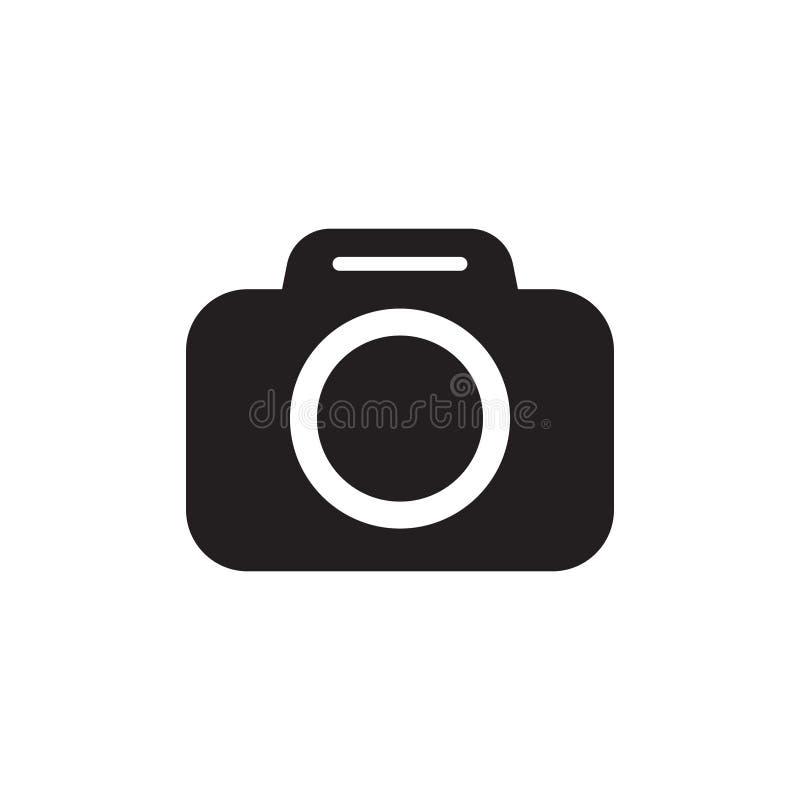 Photo camera vector icon. Vector illustration isolated on white background stock illustration