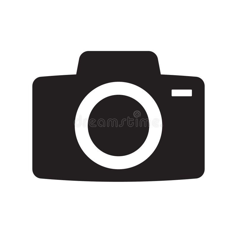 Photo camera vector icon. Vector illustration on white background vector illustration
