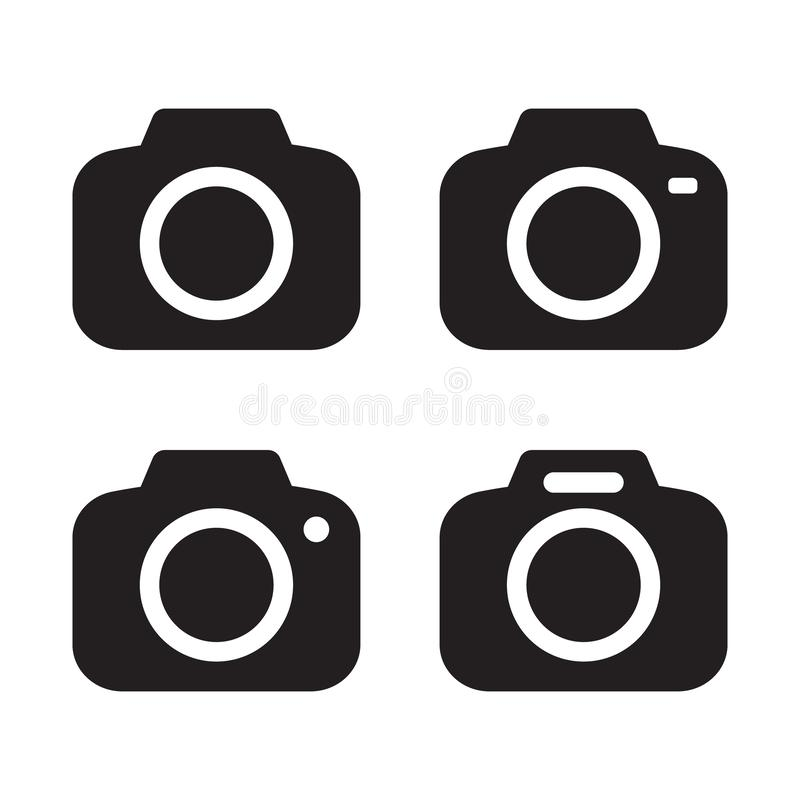 Photo camera vector icon isolated. Vector illustration isolated on white background royalty free illustration