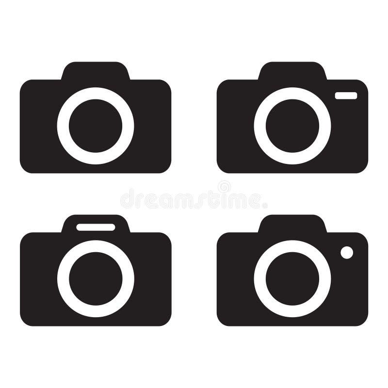Photo camera vector icon isolated. Vector illustration on white background royalty free illustration