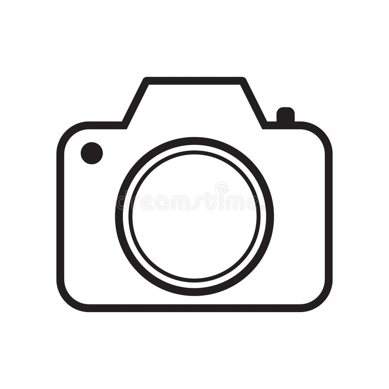 Photo camera vector icon, line icon. Vector illustration isolated stock illustration