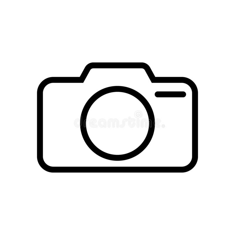 Photo camera vector icon, line icon. Vector illustration isolated on white background vector illustration