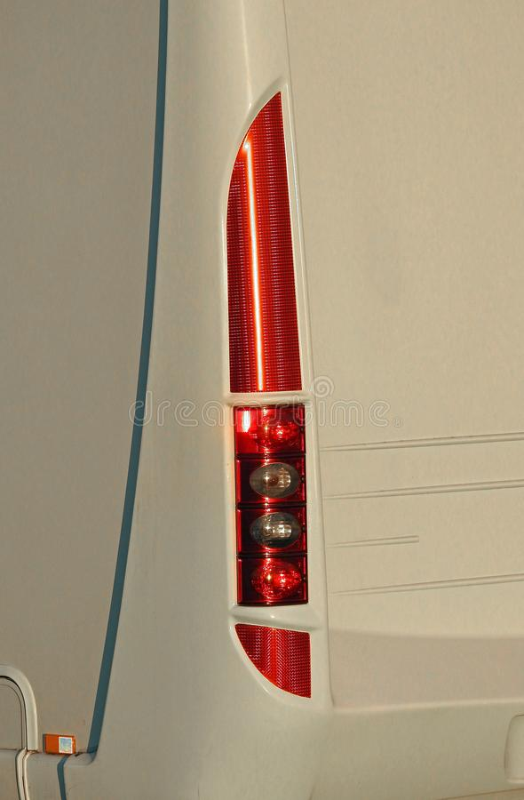 Camper van stop light cluster panel rear stock image