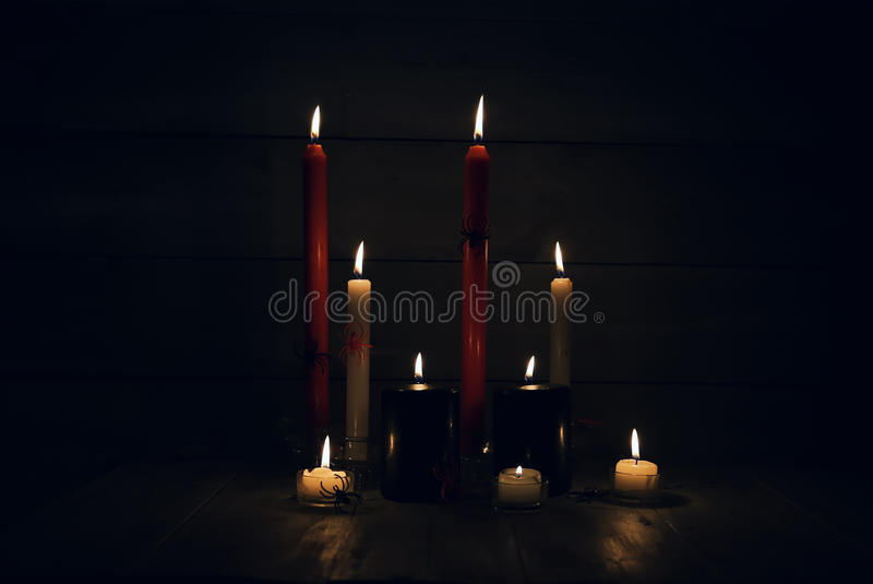 Photo with candles stock images