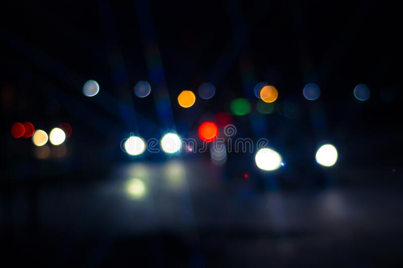 Photo of Car and Street Lights during Night Ime royalty free stock images