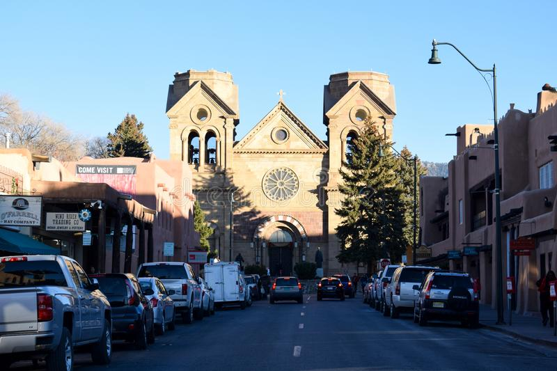 The Cathedral Basilica of St. Francis of Assisi in Santa Fe, New Mexico royalty free stock images