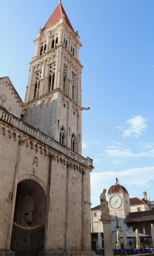 Cathedral in Trogir royalty free stock images
