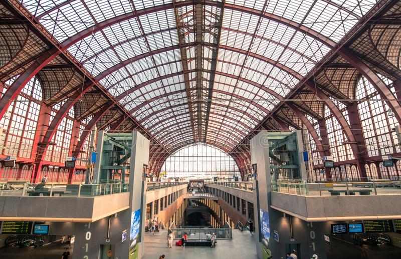Photo of the Central Station in Belgium royalty free stock photos