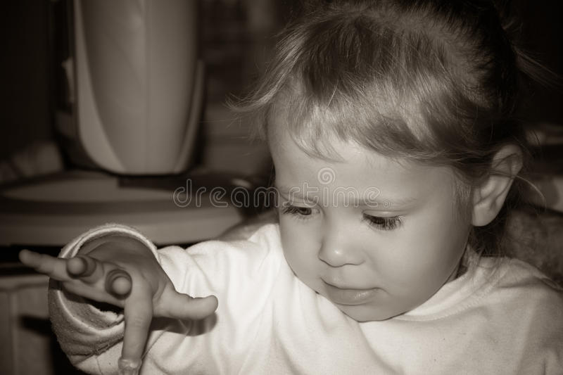 Photo of the child royalty free stock image