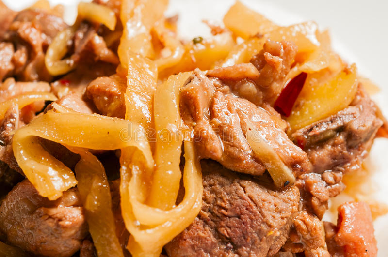 Duck Meat And Bamboo Shoots Stock Photo