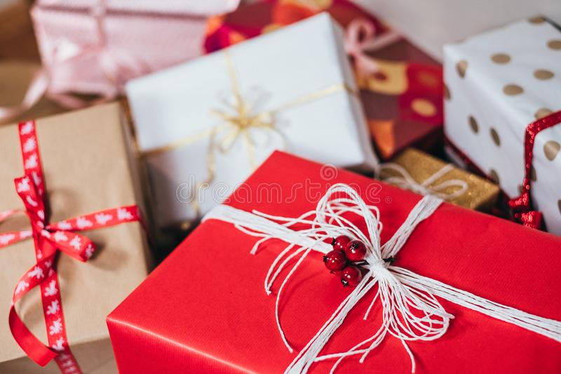 Photo of Christmas Presents royalty free stock photography