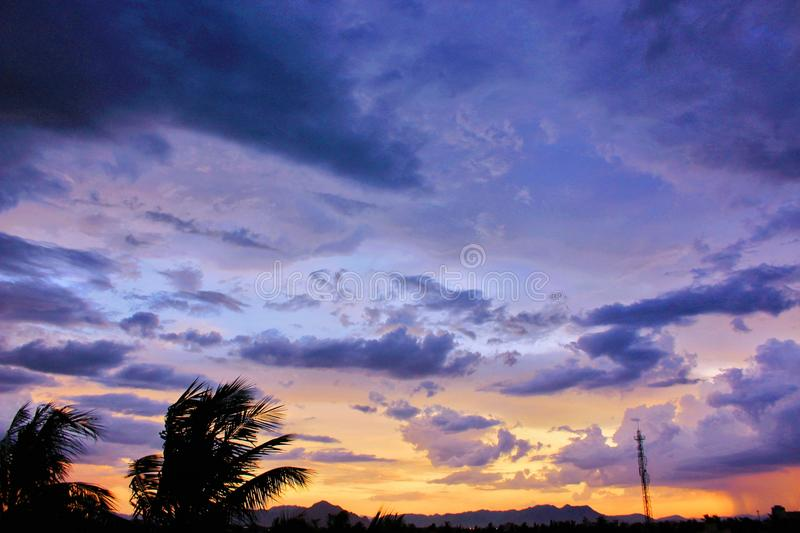 Photo of Cirrus Clouds during Golden Hour royalty free stock photos