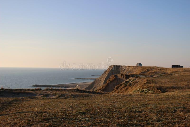 Dunes thorsminde denmark. Photo from the cliffs in thorsminde. Denmark 2018 stock photography
