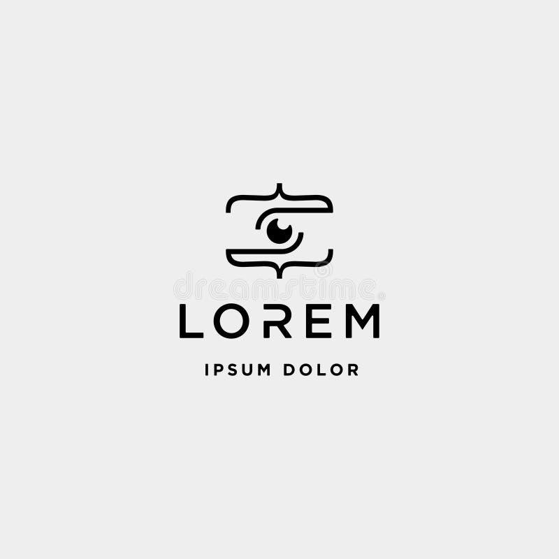 Photo code logo design camera coding simple line. Vector, lens, technology, computer, programmer, internet, programming, software, development, web, language vector illustration